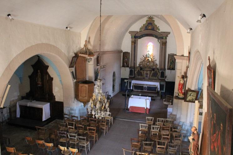 intérieur de l'église de Saint-paul (Corrèze)