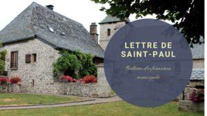 La lettre de Saint-Paul – janvier 2020